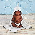 Baby Aspen Gray Shark Hooded Towel