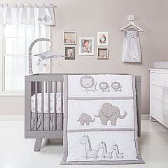 Trend lab Safari Chevron 3 Piece Crib Bedding Set