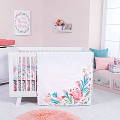 Trend Lab Painterly Floral 3 Piece Crib Bedding Set