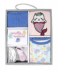 Rose Textiles 5 Piece Seashells and Mermaids Clothing Gift Set