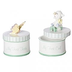 Roman Gifts  4.5 inch 2 Piece Baby's First Keepsake Boxes