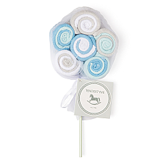 Rose Textiles 12 Pack lollipop Blue Washcloths