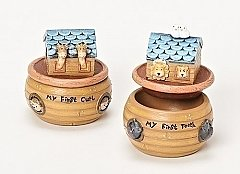 "Roman Gifts 3""H Noah's Ark First Tooth and Curl"