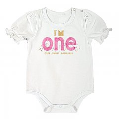Stephan Baby First Birthday Snap Shirt