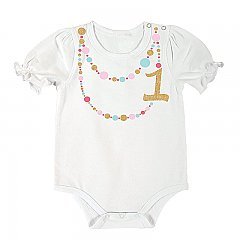 Stephan Baby Birthday Snapshirt with 1 Necklace