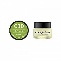 PURE Factory Naturals salve mini 65 mg CBD cucumber basil