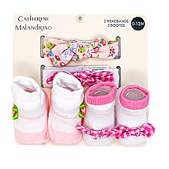 Catherine Malandrino 4 piece pink bow set