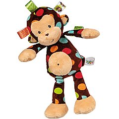 Mary Meyer Taggies Dazzle Dots Monkey Soft Toy 12""