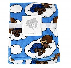 Preciously Moments  Blue Coral Fleece Blanket